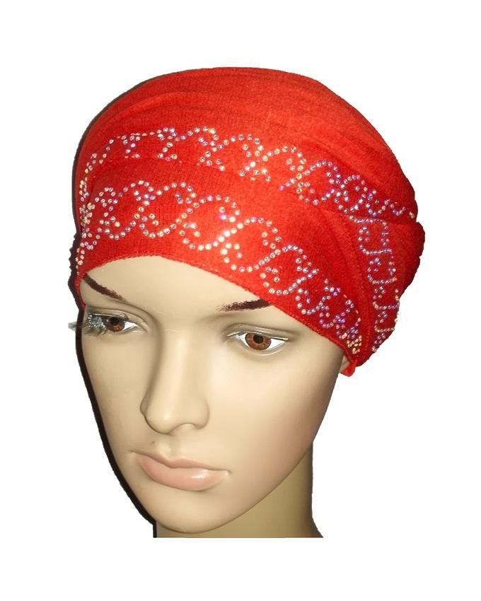 new    regal turban chain link design - mali red   n5,800