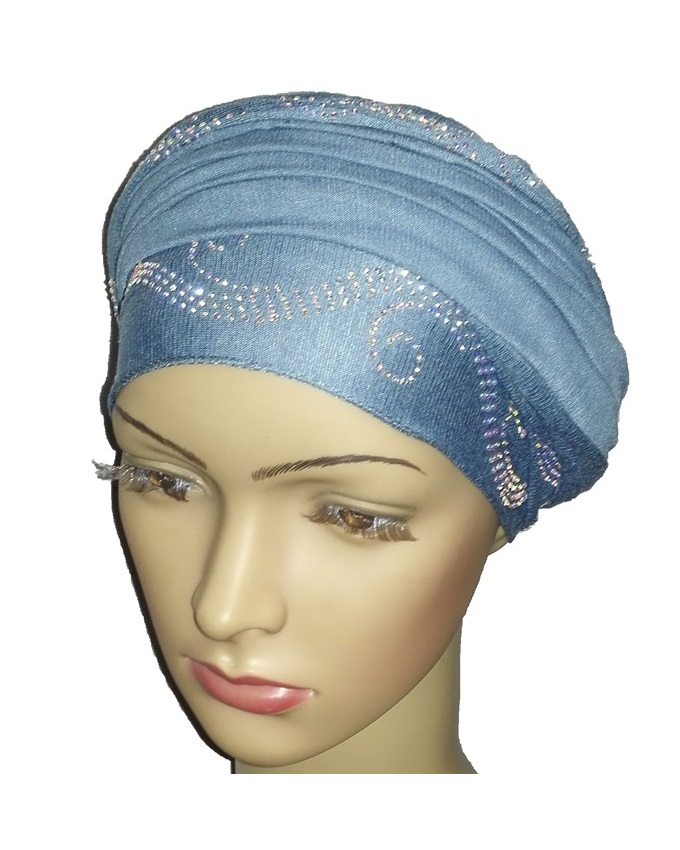 new    regal turban wave design - baby blue   n5,800