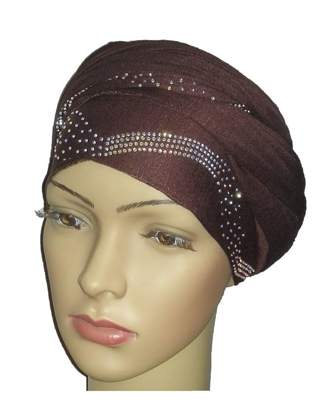 new    regal turban centric print - coffee brown   n5,800