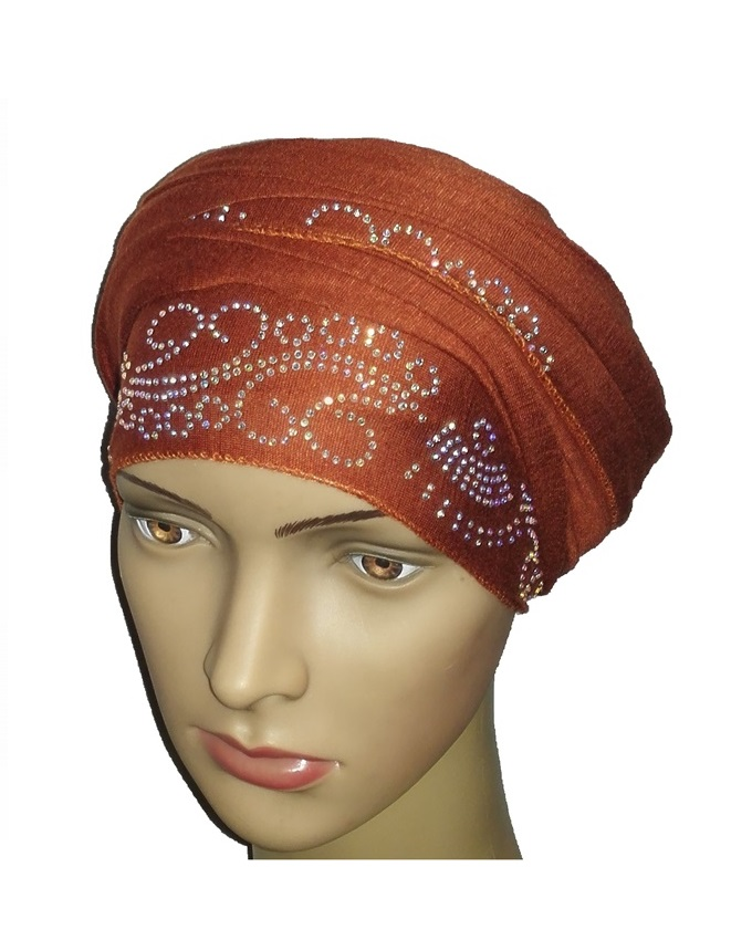 new    regal turban lake wave design - mocha brown   n5,800