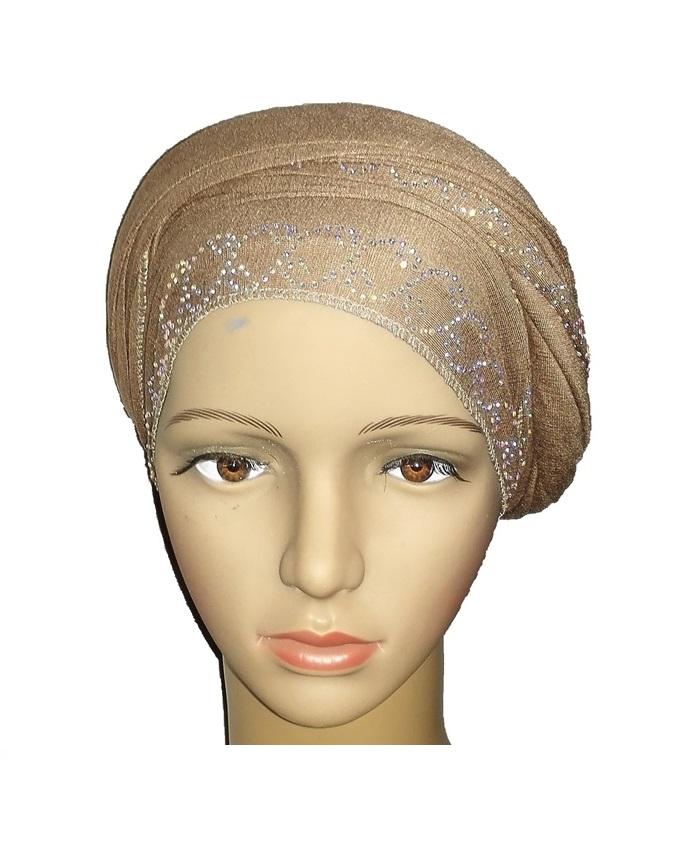 new    regal turban chain link design - desert brown   n5,800
