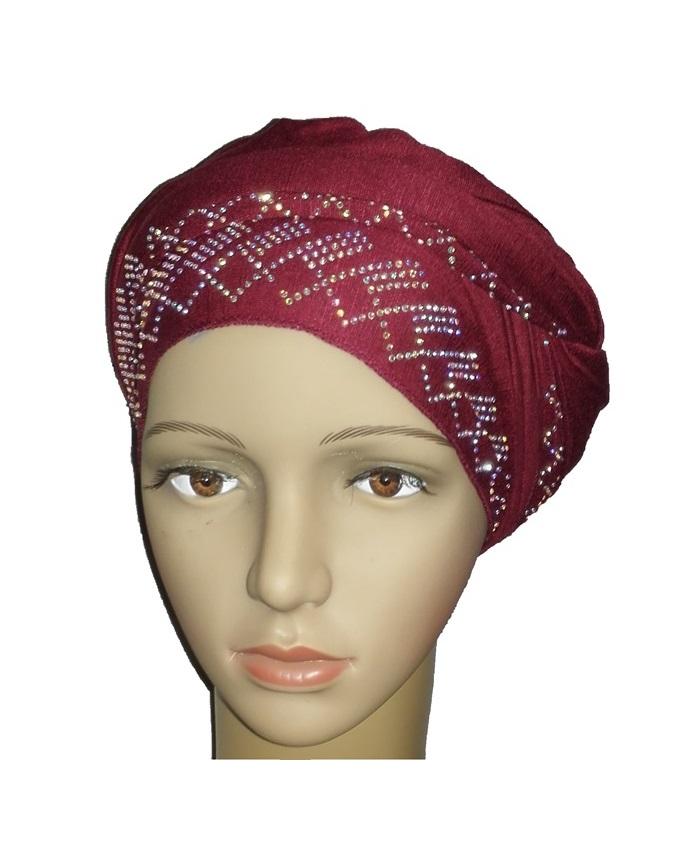 new    regal turban diamond design - burgundy   n5,800