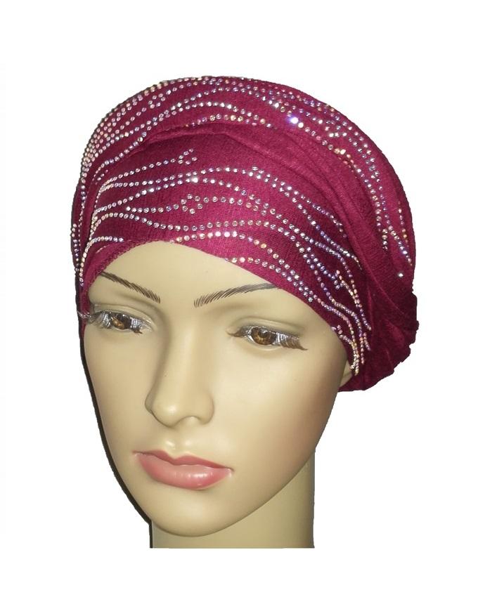 new    regal turban sea wave - burgundy   n5,800