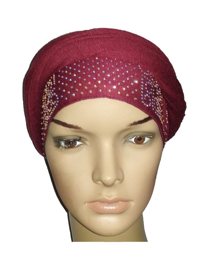 new    regal turban vendla print - burgundy   n5,800