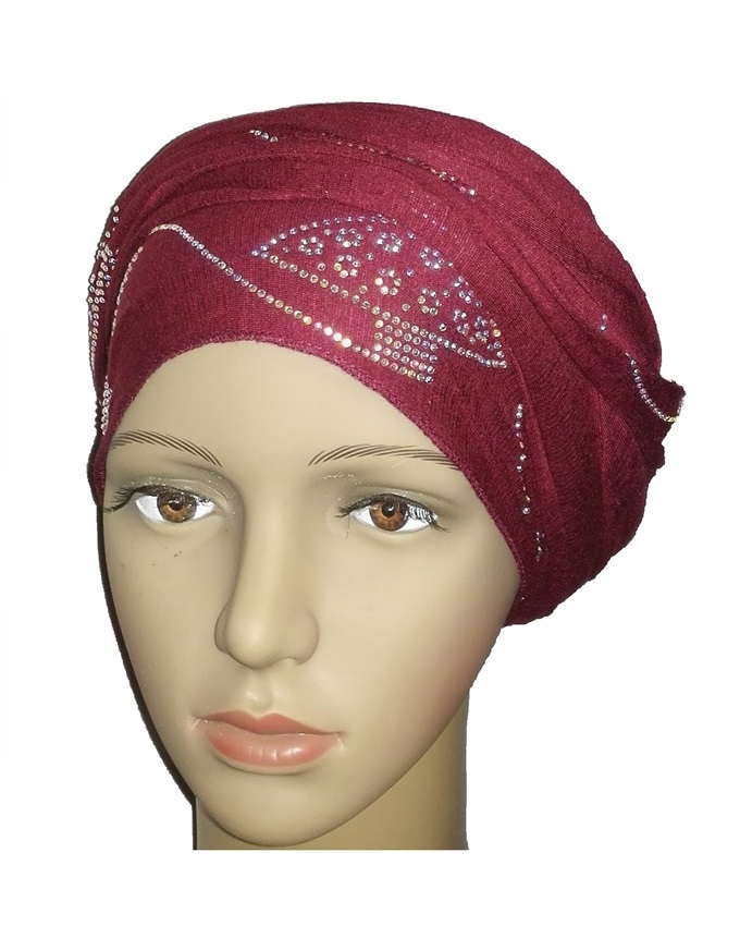 new    regal turban orbital print - burgundy   n5,800