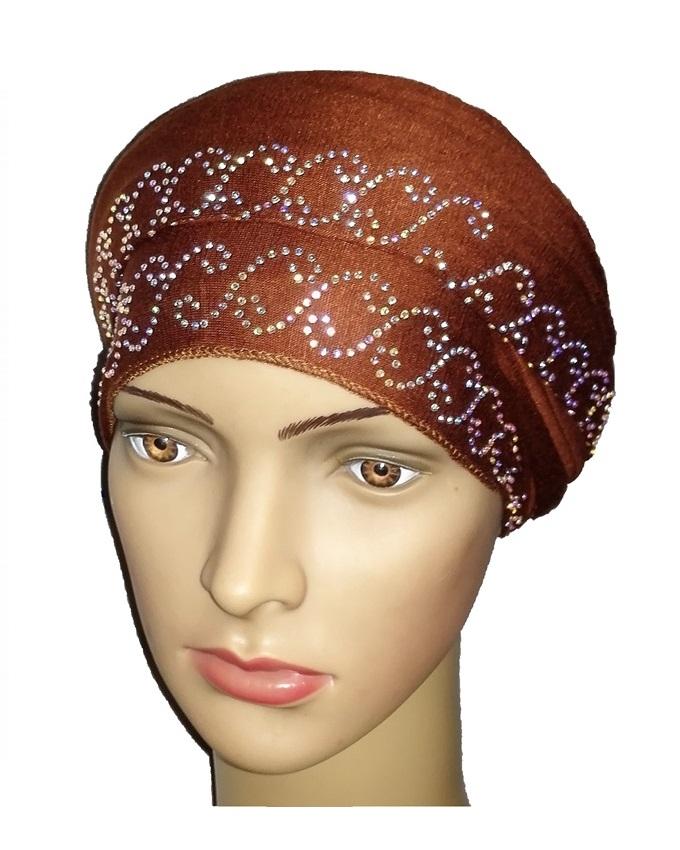 new    regal turban chain link design - cocoa brown   n5,800