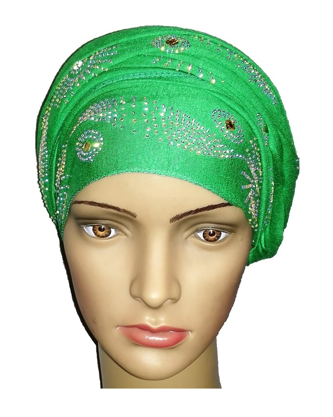 new    regal turban sun circle studs - leaf green   n5,800  ( sold out)