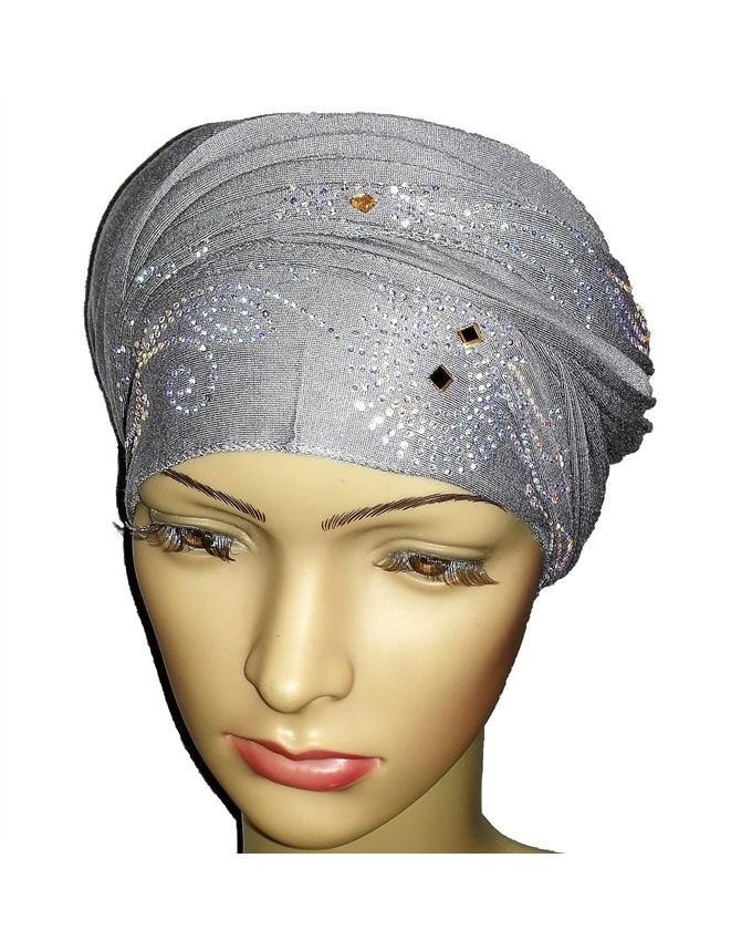 new    regal turban circle studs - ash grey   n5,800