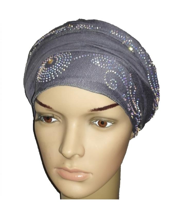 new    regal turban circle studs - slate grey   n5,800