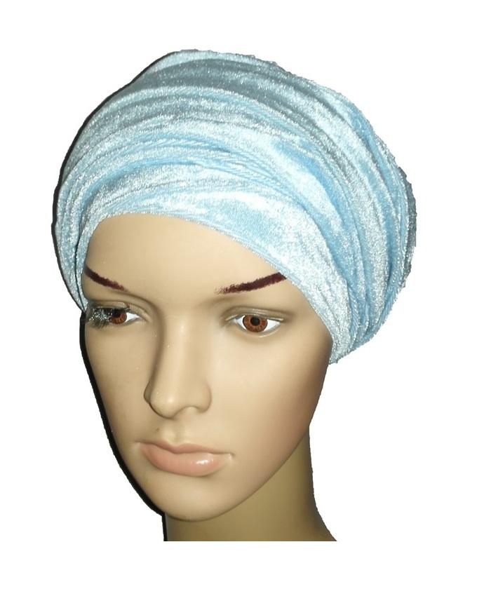 velvet turban - carnaby blue   n3,000