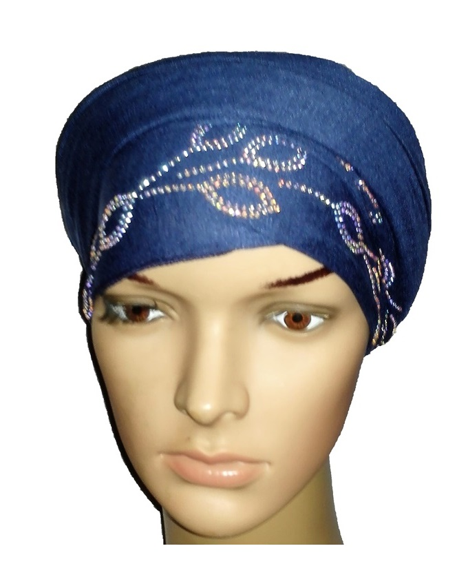 new    regal turban petal design - atlantic blue   n5,800