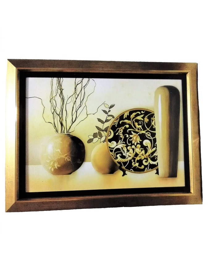 le grize a large painting gold - 86 x 65cm   n16,000