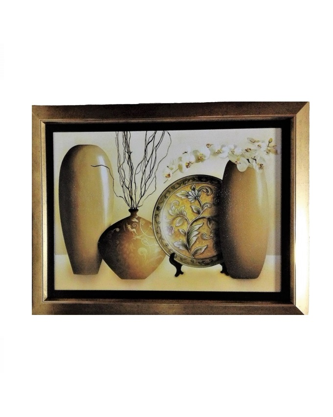 le grize d large painting gold- 86 X 65CM   N16,000