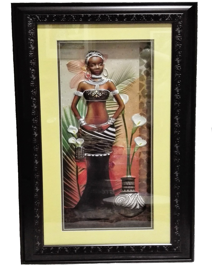 clara african lady painting - 67 x 39cm   n12,000
