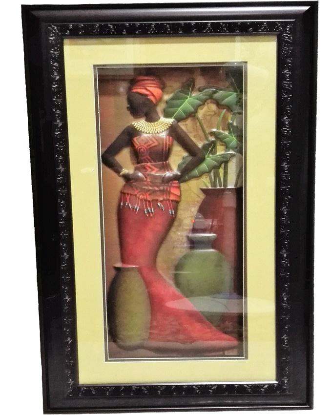 fenty african lady painting - 67 x 39cm   n12,000