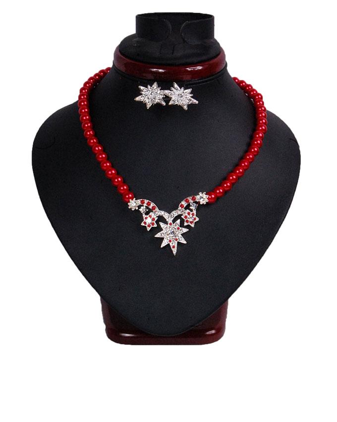 STAR SHINE JEWELRY SET - RED   N2,500