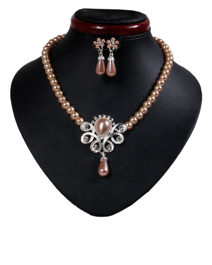 new    hyde park pearl jewelry set - merlin gold   n2,500