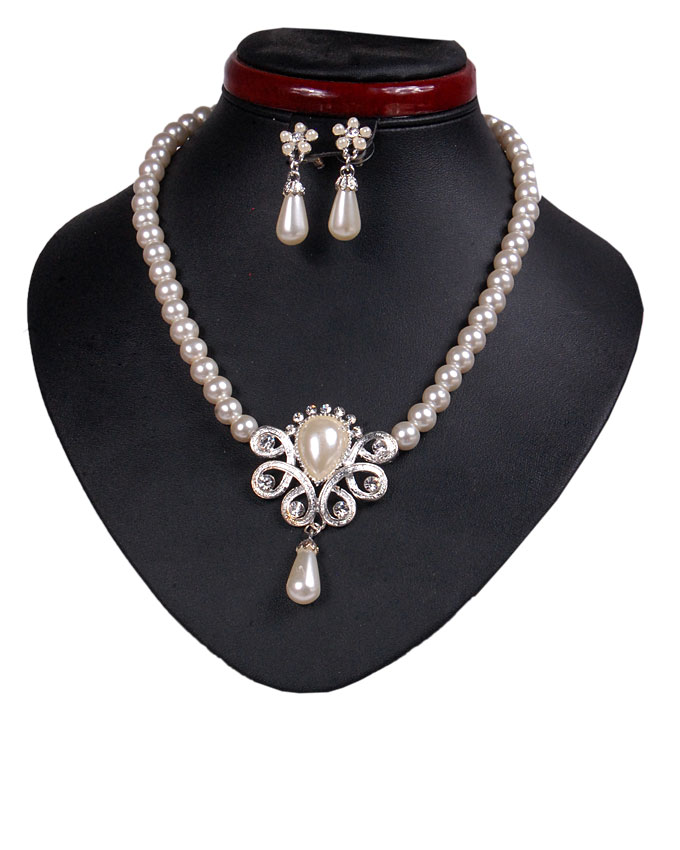 new    hyde park pearl jewelry set - white   n2,500