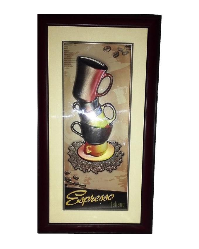 cafe mocha painting - 36 x 64cm   n7,500