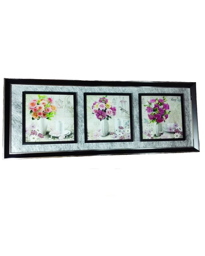rose hill 3 in 1 wood painting - 118 x 45cm   n17,000