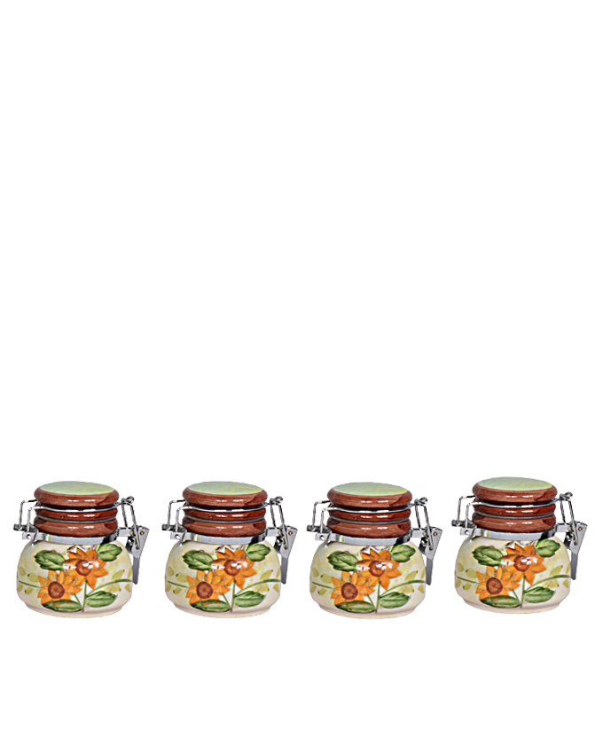 four piece cannister set - brown head 14cm   n1,500  ( sold out)