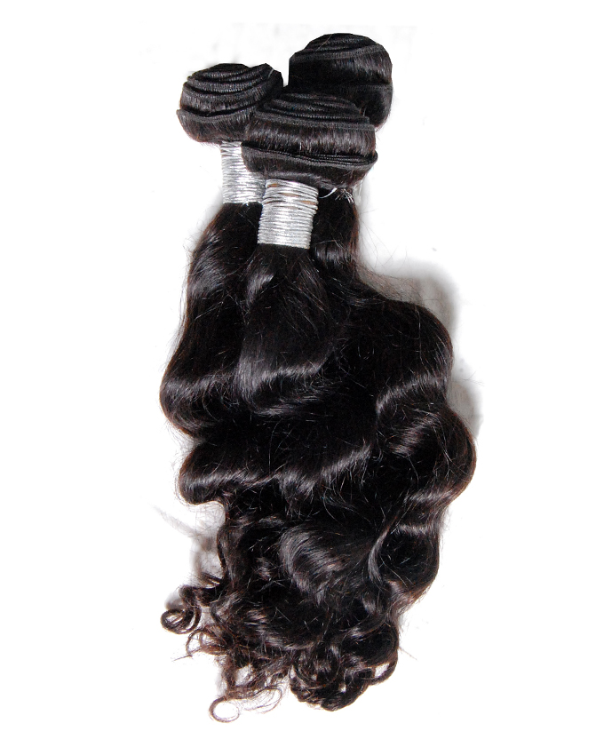 """malaysian virgin natural wavy   20""""    -         47,000  pack of 3 rolls. 300g. enough for a full head. limited stock"""