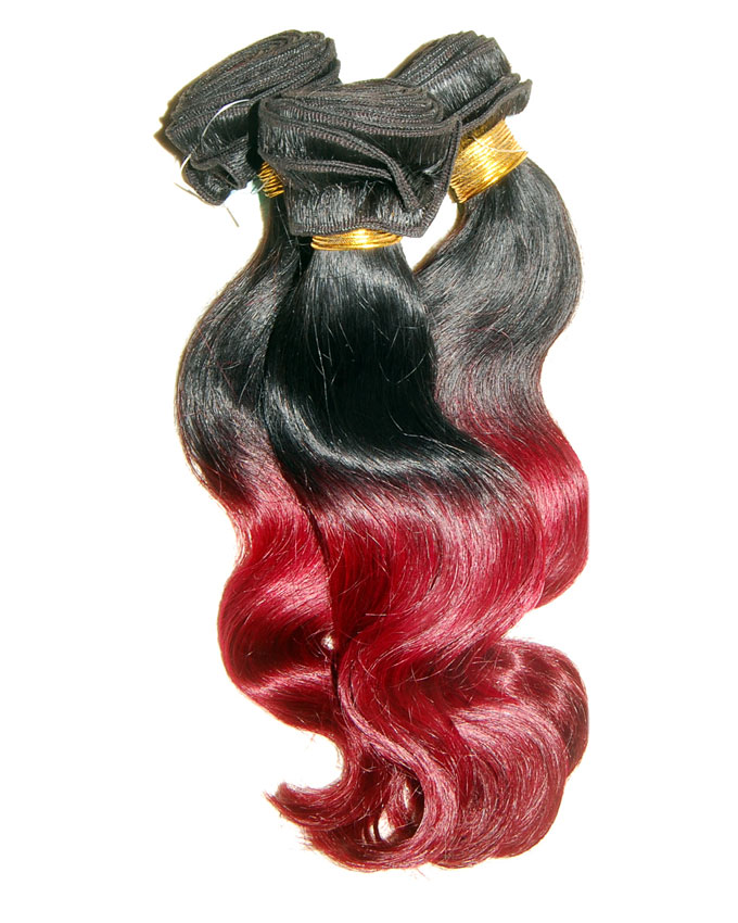 """OMBRE CURLS B/W #1B/BG   14""""       -         45,000  per pack of 3 rolls. 300g. enough for a full head. limited stock."""
