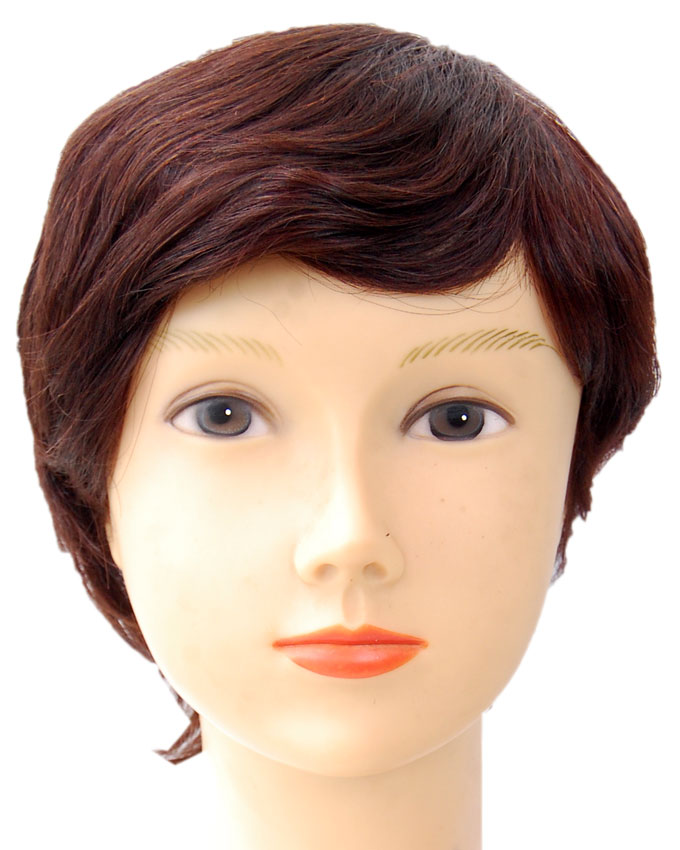 DORSET HUMAN HAIR WIG - COLOR 2   8 INCHES - 18,500