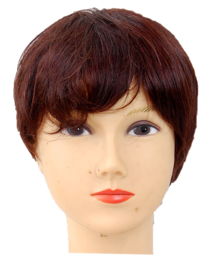 KENSINGTON HUMAN HAIR WIG - COLOR 2   8 INCHES - 18,500