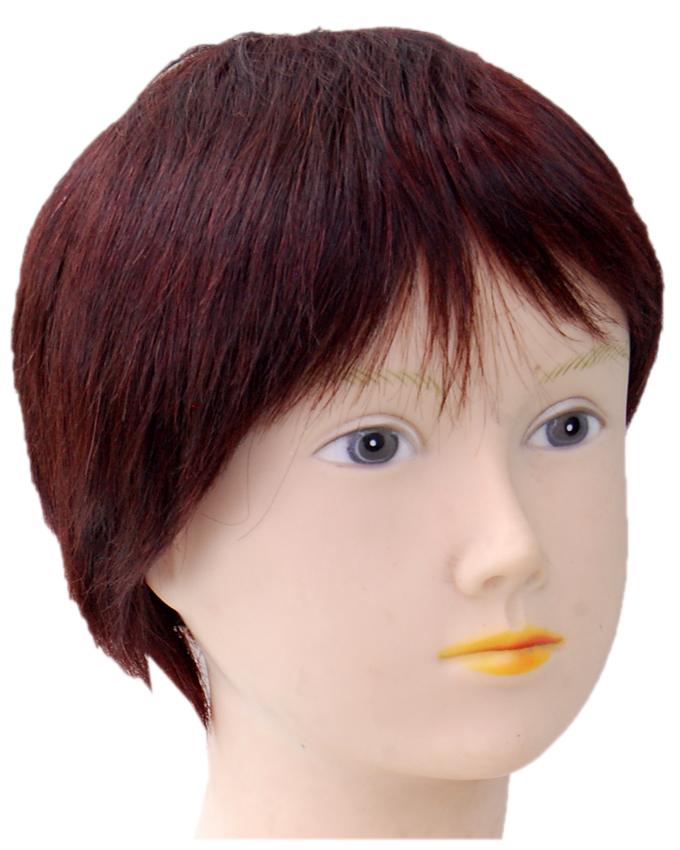 VIVIAN HUMAN HAIR WIG - COLOR 2   8 INCHES - 18,500