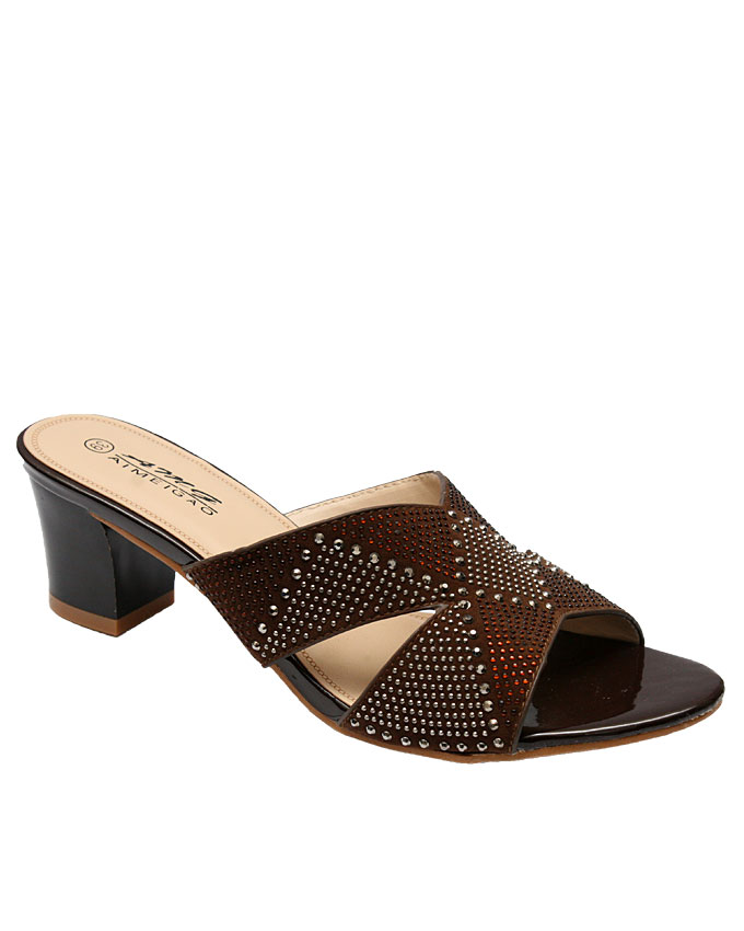 emma cut out slippers - brown   uk size 37, 39, 40  n9,000