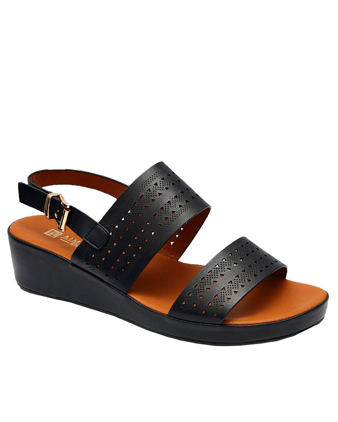 baby perforated sandal - navy blue   eu size 36, 37, 38, 39, 40,  n12,000