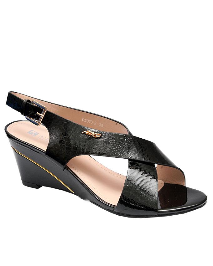 lolita strappy wedge sandal - black   eu size 37, 38, 39, 40, 41, 42  n15,000