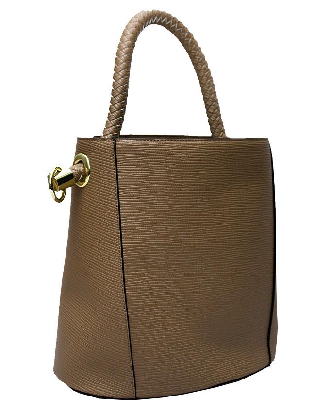 WESTCHESTER BUCKET BAG - khaki ( FRONT)   N20,000