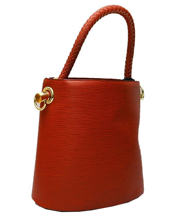 WESTCHESTER BUCKET BAG - red ( side)   N20,000