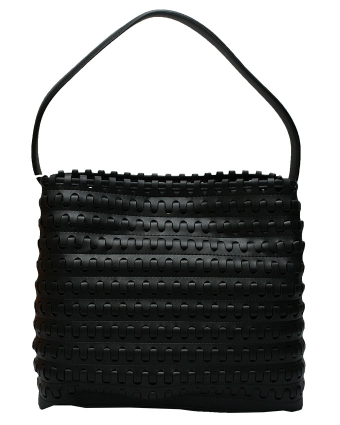mayfair weave bag - Black ( back view)   n25,000