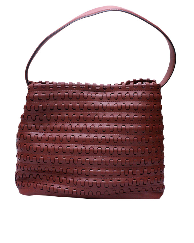 mayfair weave bag - maroon ( front view)   n25,000