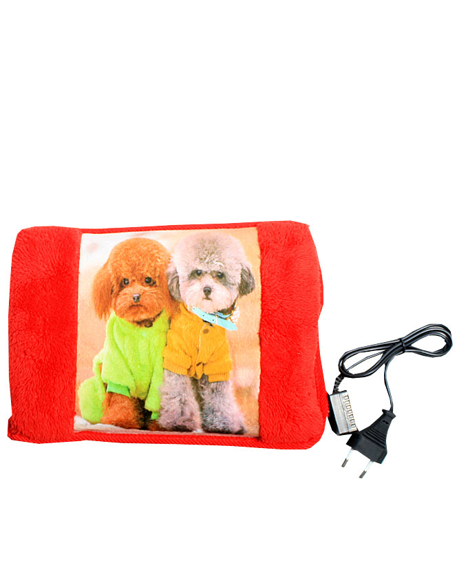 two puppies in sweaters - red   n6,000