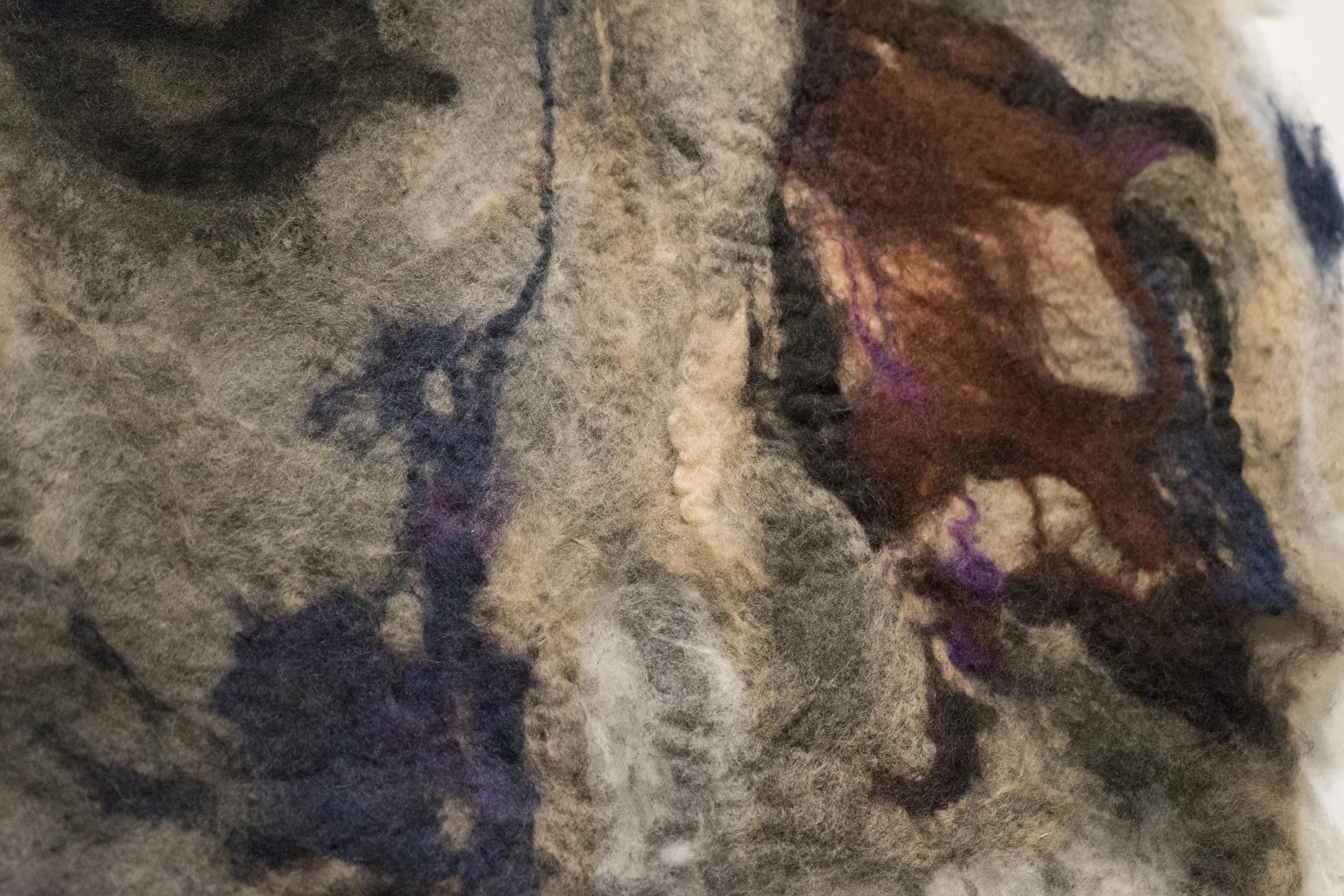 FILT Rock (Skin)    watercolour, ink, dye, felt   2016