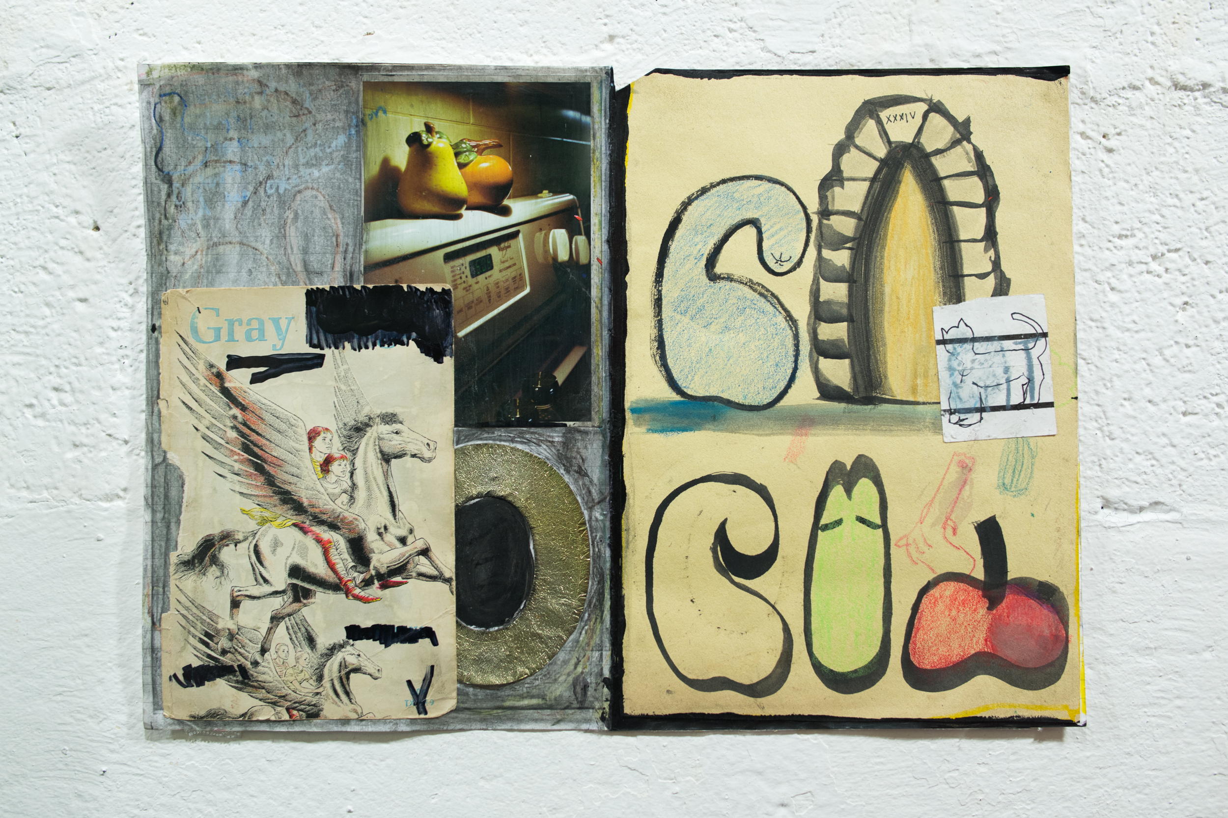Untitled    collage and wood    2015
