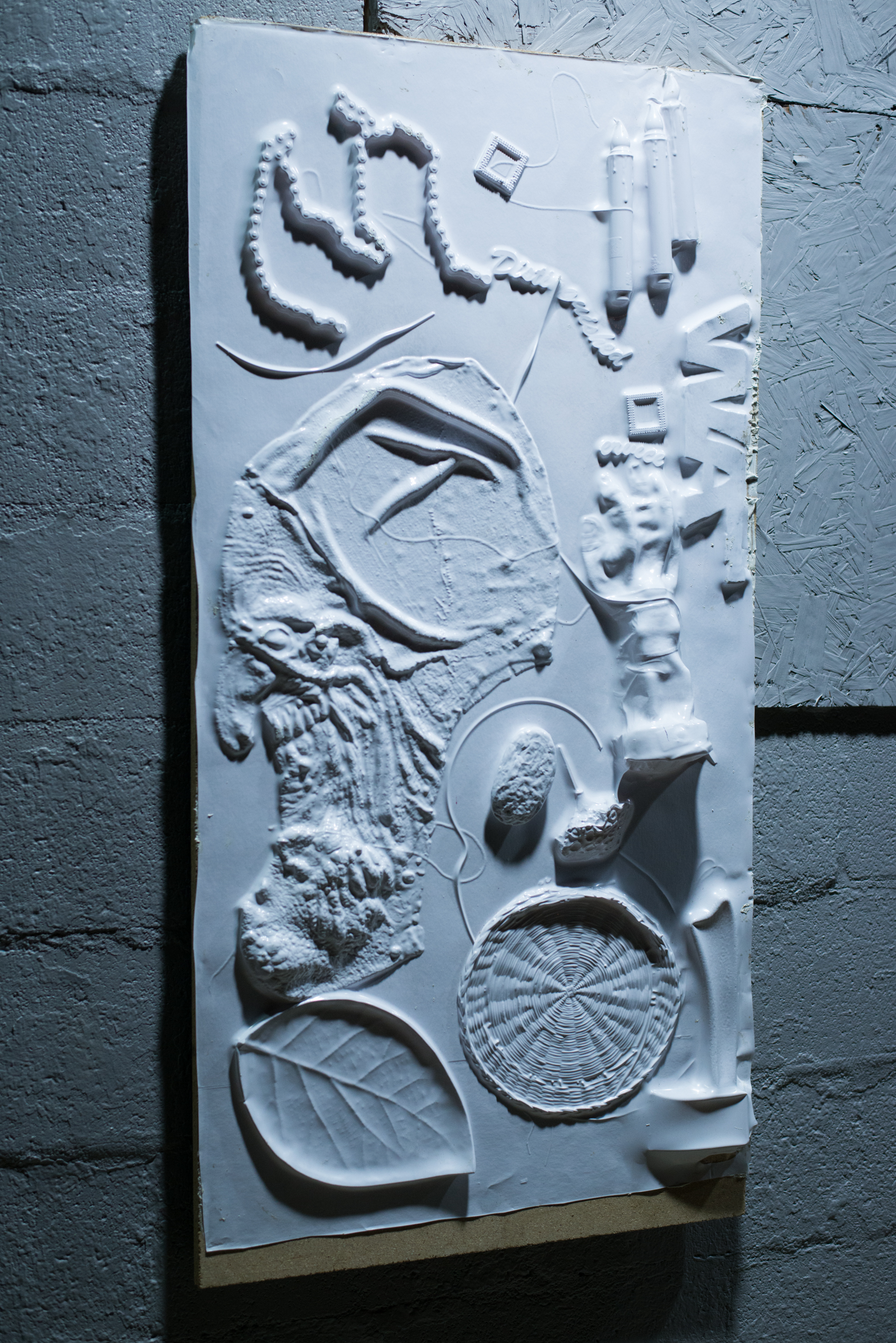 Untitled    vacuum-formed plastic mounted on MDF  2015
