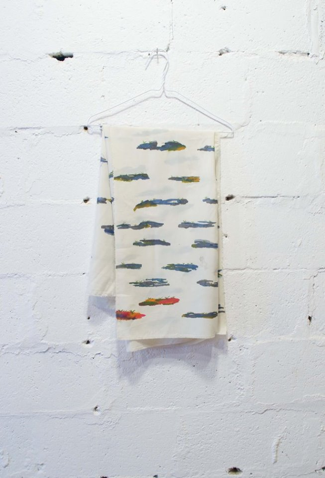 Justine Orrall  Untitled  Custom printed fabric on wire hanger  2014