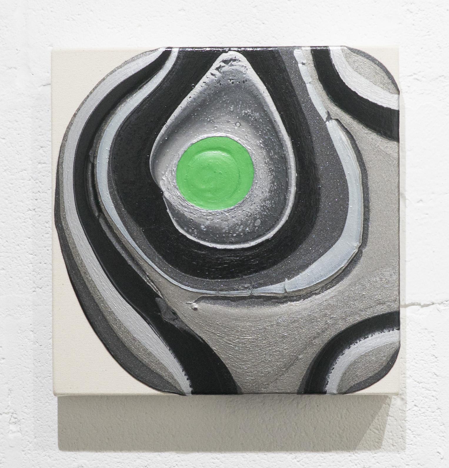 Recording 2    Acrylic on unprimed canvas  2016