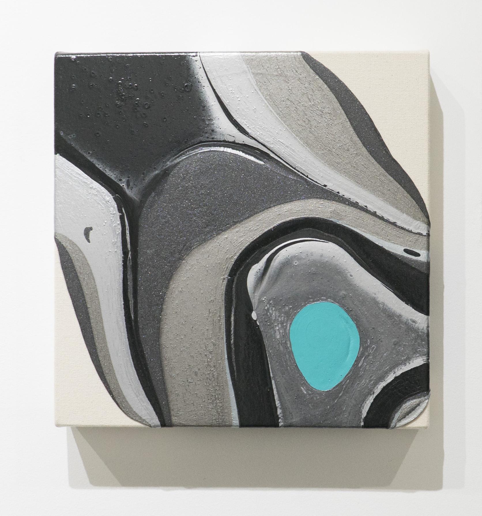 Recording 11    Acrylic on unprimed canvas  2016
