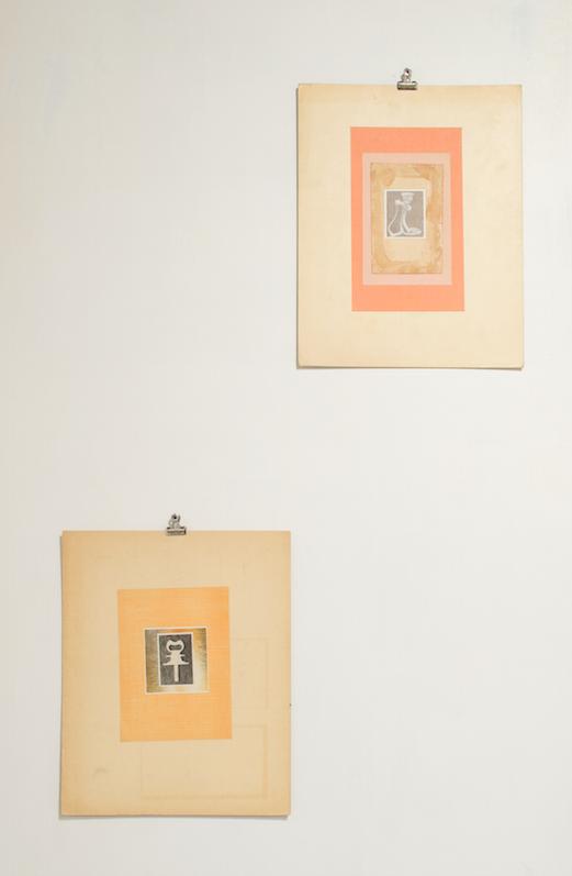 Untitled  & Untitled   Scott Zieher  collage  2015