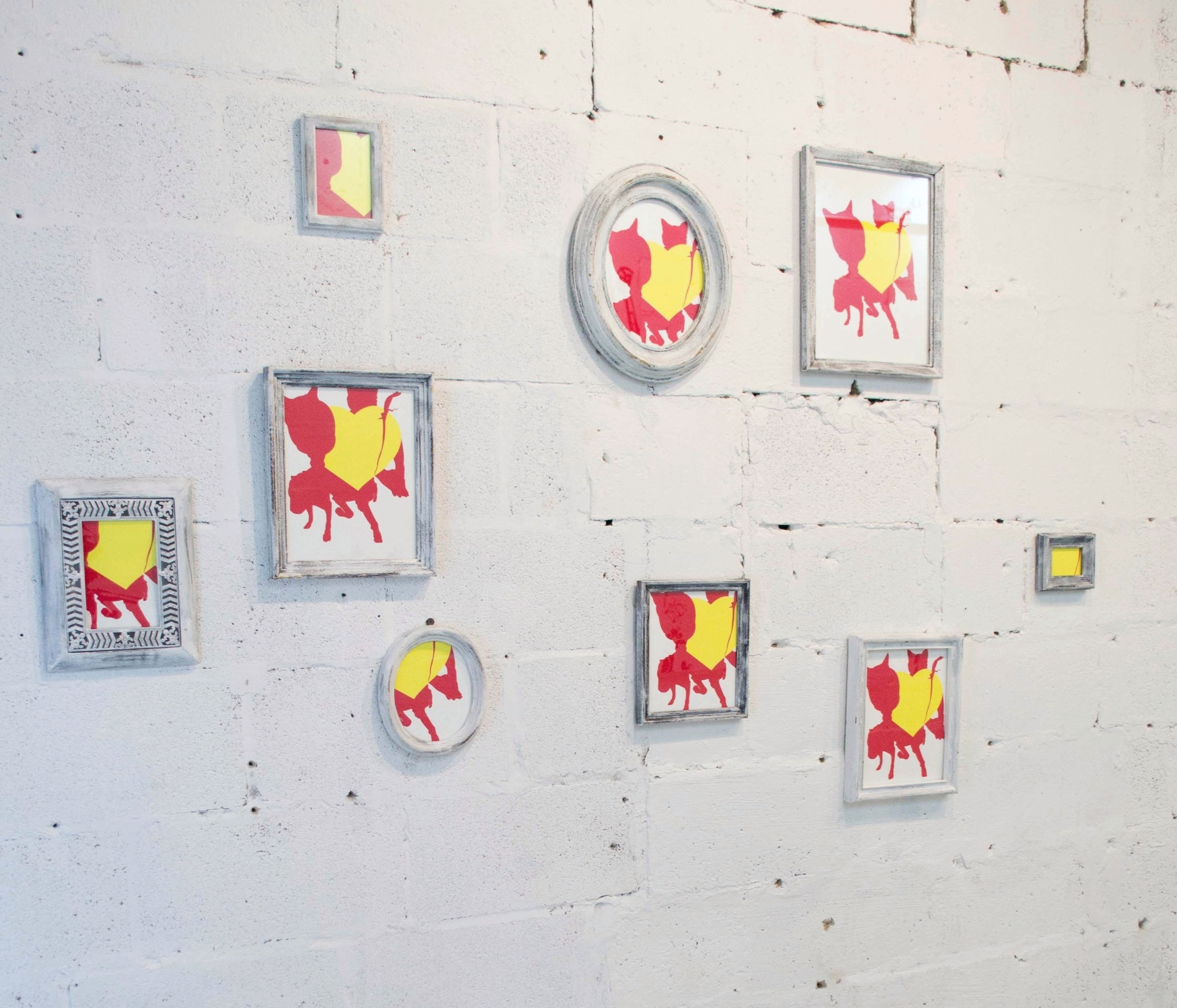 Isms   framed silk screen prints  2014