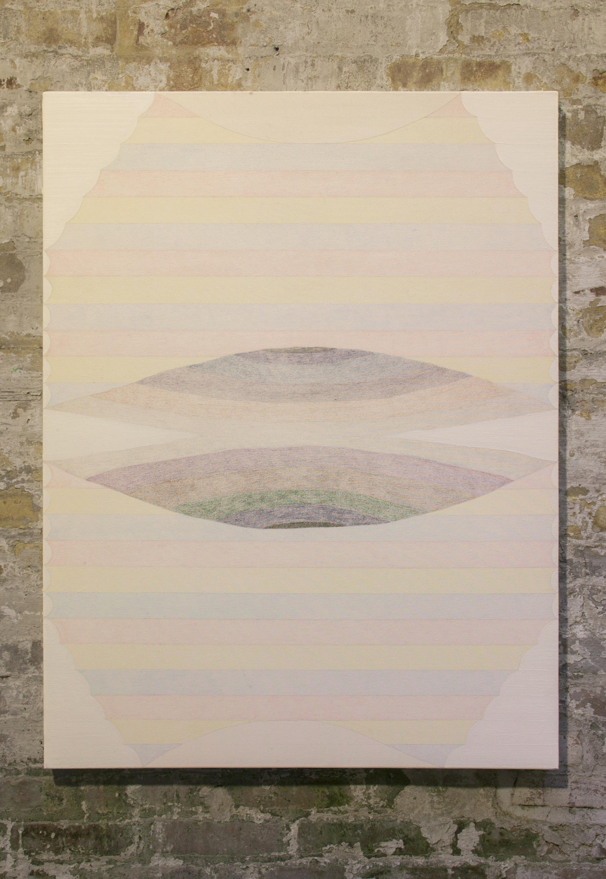 David Onri Anderson   Appear Disappear Paper Lantern   Oil and color pencil on canvas  2016