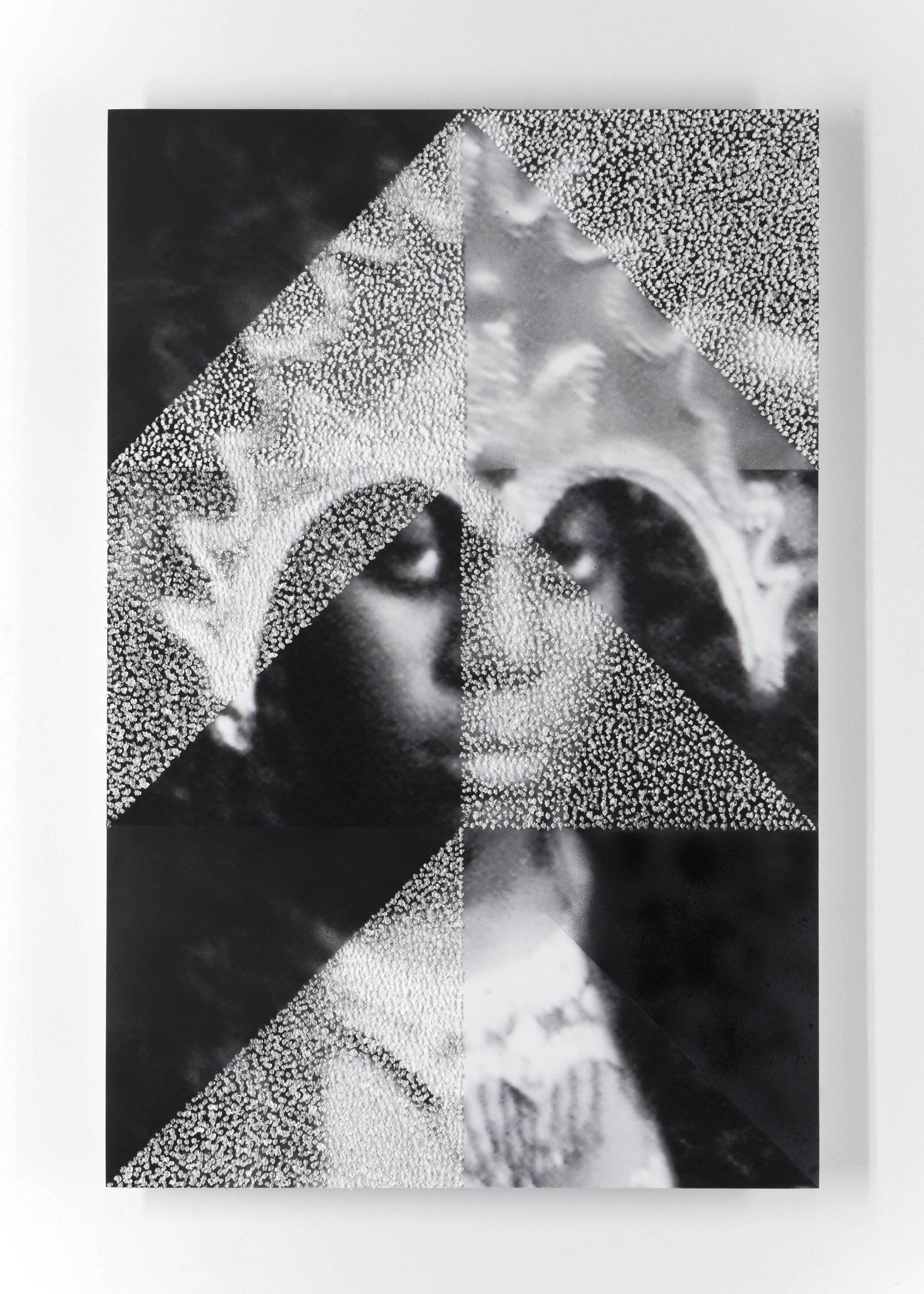 Untitled   Unique picotage on mounted inkjet print  2017