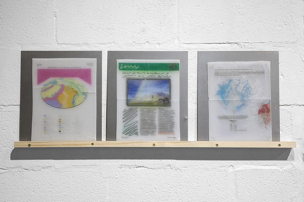 Lee Pivnik   MELTDOWN   2017  UV prints on wax