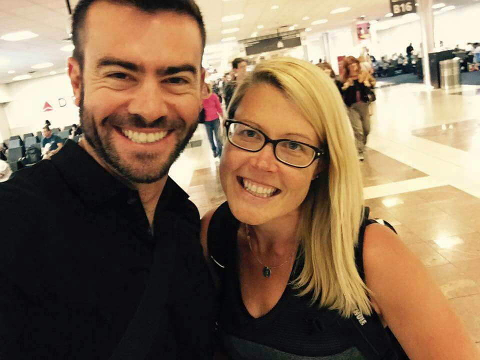 But I did get to run into one of my coworkers unexpected in the airport. I look great, sans makeup and plus glasses.